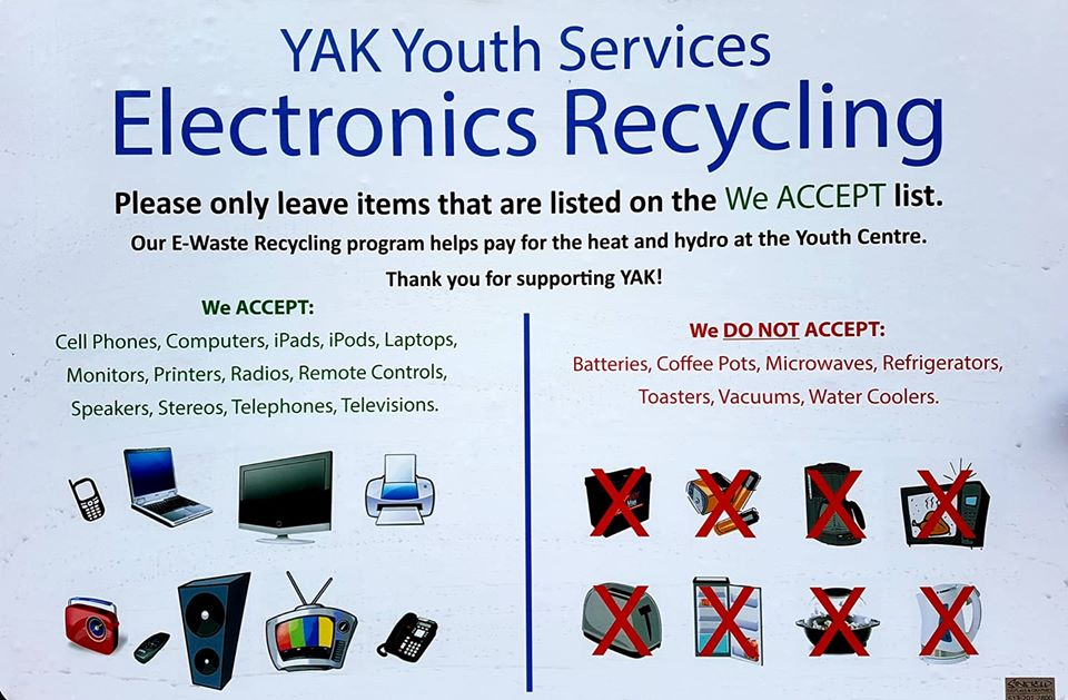 YAK E-Waste Recylcling Poster