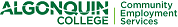 Green Algonquin College Community Employment Services logo