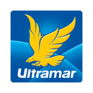 Blue and white Ultramar logo with yellow eagle